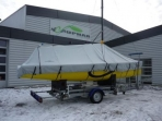 Ripstop polyester awning above the first longtze Parking