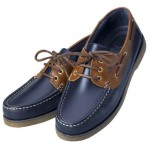 Boat Shoes Navy Blue Crew / Brown