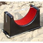 Large stern support and assembly aid for catamarans