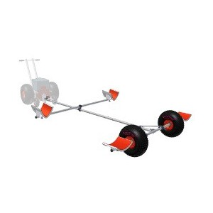 EuroTrax - Launching trolley for catamarans with preassembled connection for power machine cadMover