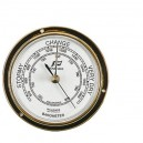 "Barometer Plastimo 3 ""polished brass flat glass"