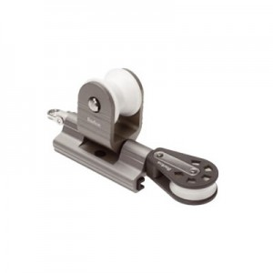 Swallows for rail in T 32 mm with pulley