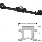 Overall rail Antal carriage for gv full size 100 1.5 metre fence Becket + reference + taper tack