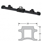 Overall rail Antal carriage for gv full size 100 1.5 metre tip + adjustable stop