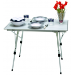 Folding Table aluminium 90x60x70 cm