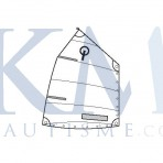Club optimist sail with window and button - EX1059 - OPTIPARTS
