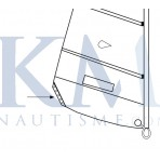 Kit for aluminium jib clew plate - HOBIE - HC-16080005